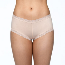 Load image into Gallery viewer, Hanky Panky Supima Cotton + Lace Boyshort