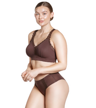 Load image into Gallery viewer, Parfait Dalis Bra Sized Non-Underwire Modal & Lace J-Hook Deep Nude Bralette