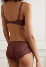 Load image into Gallery viewer, Chantelle Wine Orangerie SS21 Lace Plunge Lightly Lined Underwire Bra
