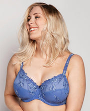 Load image into Gallery viewer, Ulla Carla Full Coverage Embroidered Underwired Bra FW2020 Sky Blue