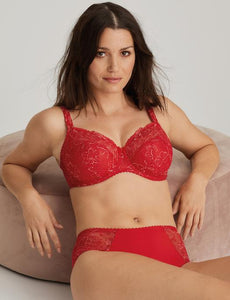 Prima Donna Alara Red Seamed Lace Underwire Bra