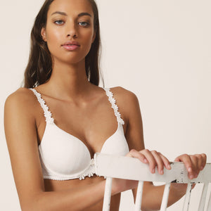 Marie Jo Avero Sweetheart Convertible Straps Underwire Bra Natural Ivory + White + Pineapple