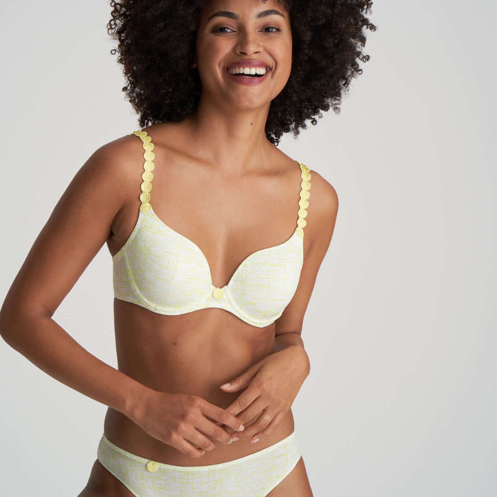 Marie Jo L'Aventure SS21 Tom Limoncello Moulded Heart Shape Underwire Bra