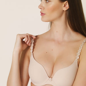 Marie Jo L'Adventure Tom Sweetheart Convertible Underwire Bra Caffe Latte + Black
