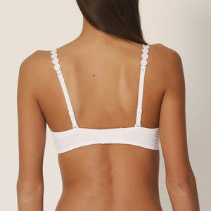Marie Jo L'Adventure Tom Sweetheart Convertible Underwire Bra Natural Ivory + White