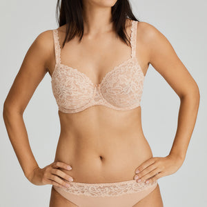 Prima Donna SS21 Light Tan + White Magnolia Matching Rio Briefs