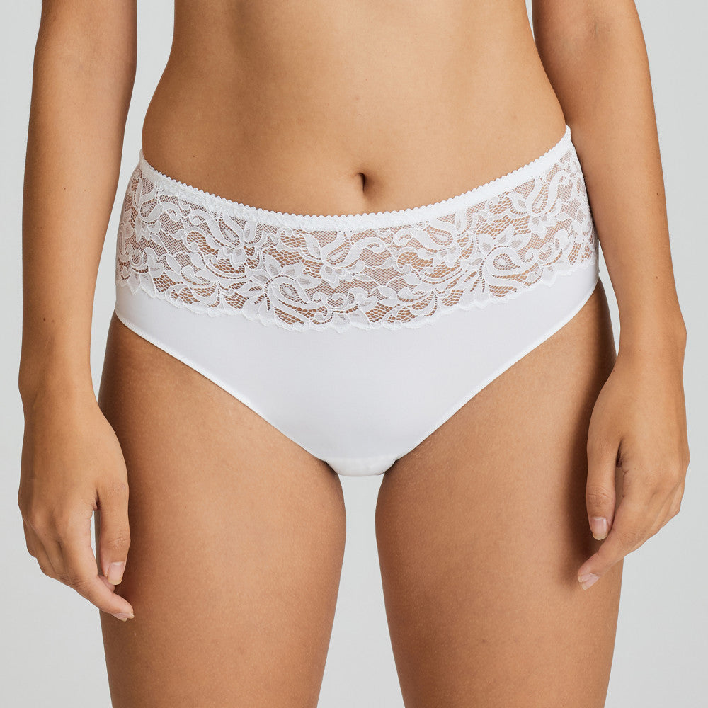 Prima Donna SS21 Light Tan + White Magnolia Matching Full Briefs