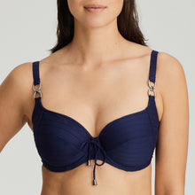 Load image into Gallery viewer, Prima Donna Swim SS21 Smoking + Sapphire Blue Sherry Unlined Full Cup Underwire Bikini Top