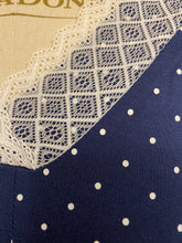 Load image into Gallery viewer, Patricia Moisture Wicking Navy + White Dots Pajama Set