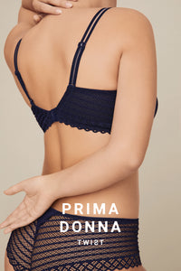 Prima Donna Twist East End FW2020 Majestic Blue Moulded Heart Shape Underwire Bra