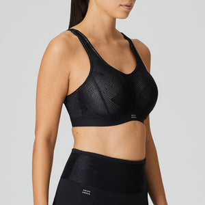 Prima Donna Sports SS20 The Game Black Padded Convertible Underwire Sports Bra