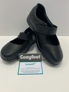 Cosyfeet - Audrey, Black (Size 5)