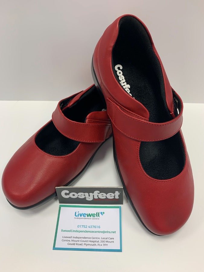 Cosyfeet - Audrey, Lipstick Red (Size 6)