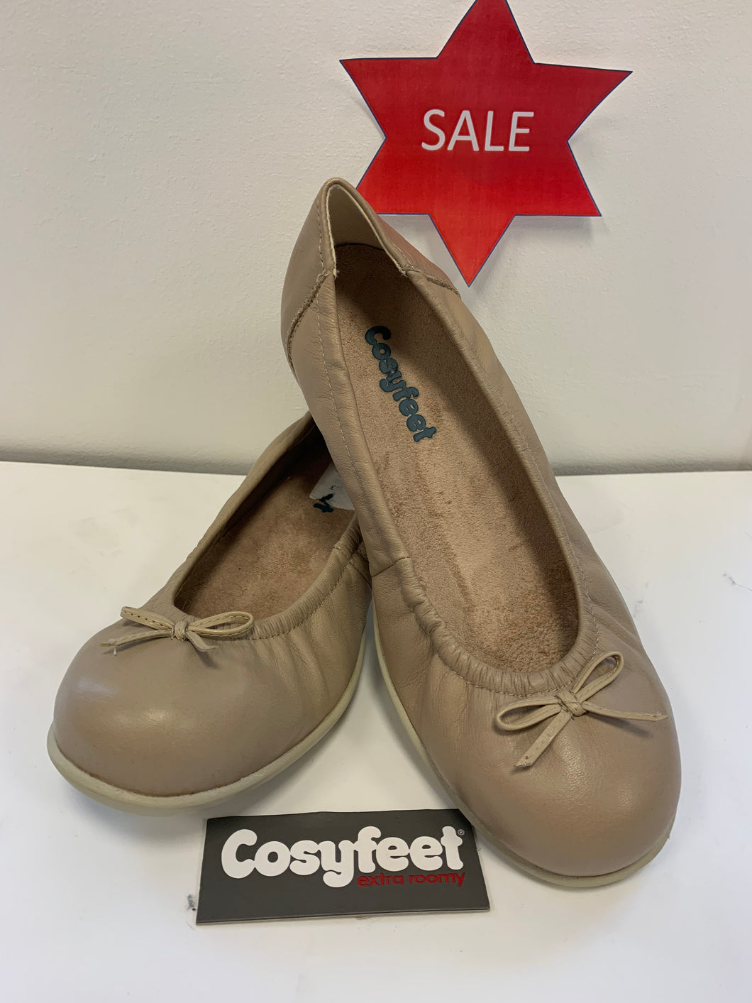 Cosyfeet - Ellie, Stone Leather (Size 6)