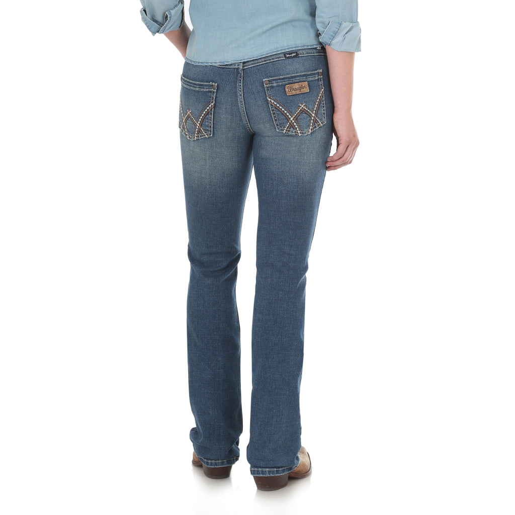 Wrangler Womens Mid-Rise Jeans Deadwood 09MWZDW