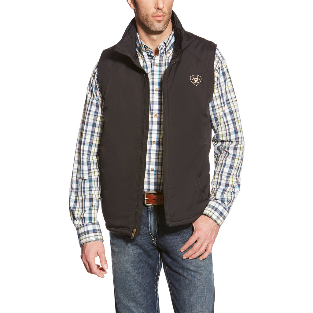 Mens Ariat Black Team Insulated Vest