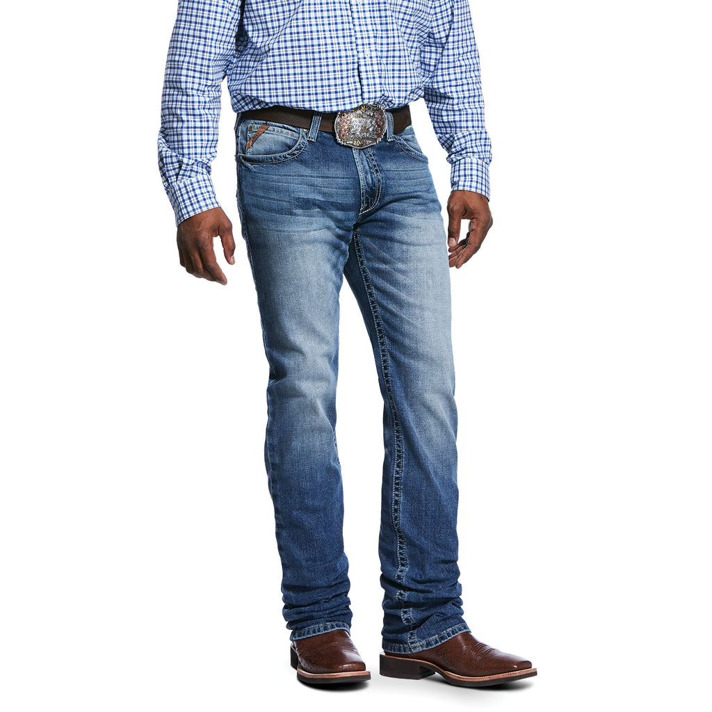 Men's Ariat  M4 Low Rise Stretch Shoreway Stackable Straight Leg Jean
