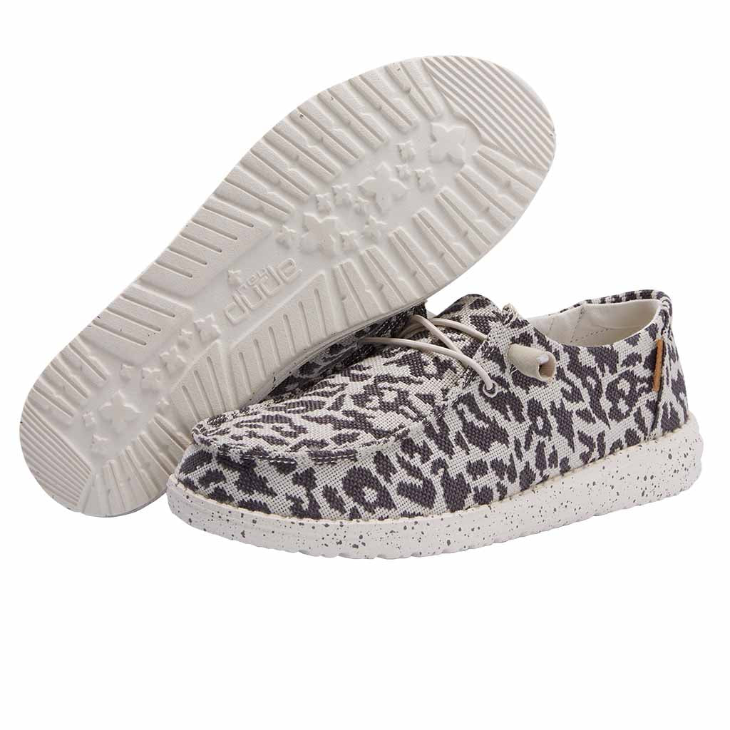 Ladies Wendy Woven Cheetah Grey 121413091