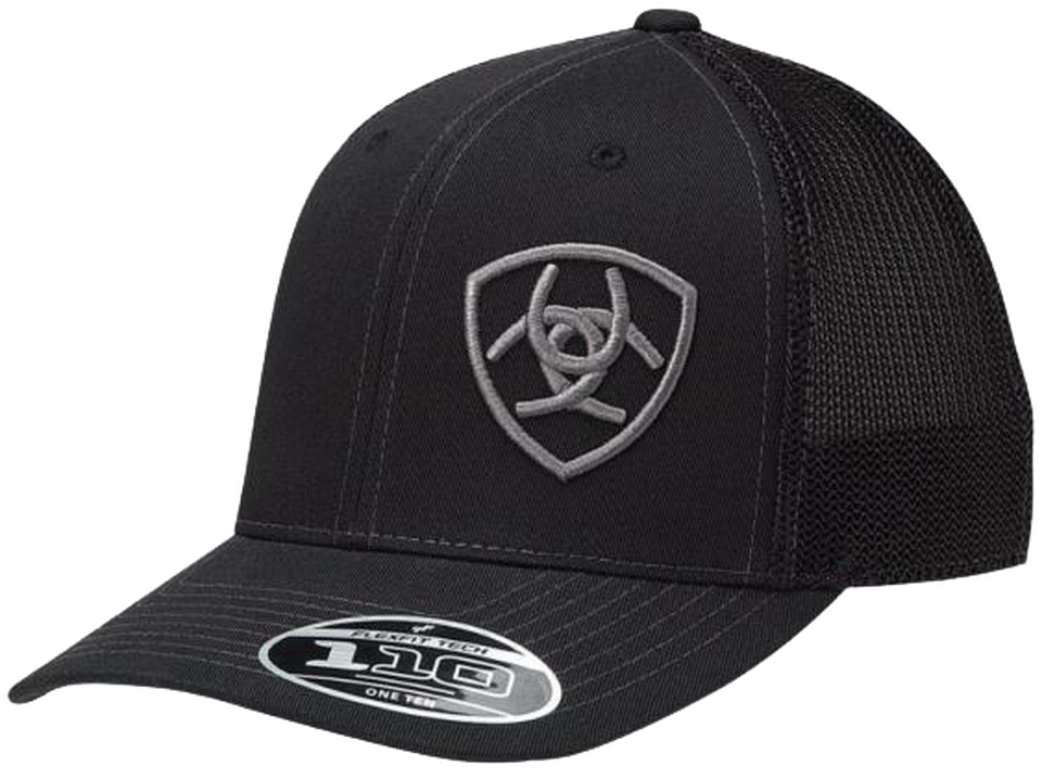 Ariat Black Offset Horseshoe Logo