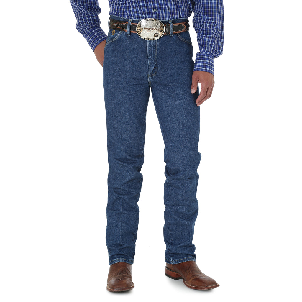 Men's George Strait Cowboy Cut Slim Fit Heavy Dark Stone Wash