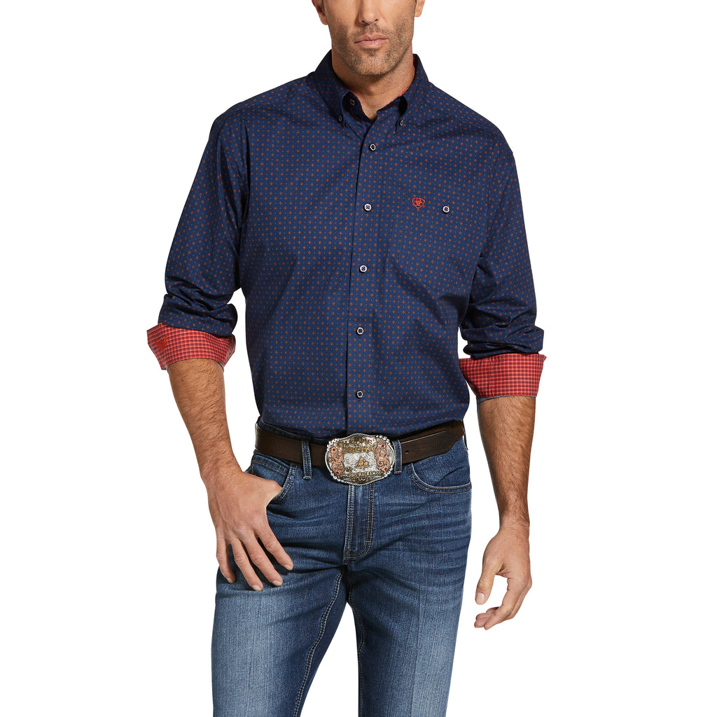 Mens Ariat Relentless Steady Stretch Classic Fit Shirt
