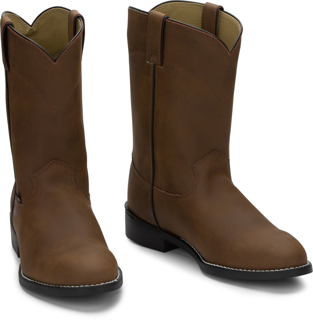 Mens Justin Temple Brown Roper