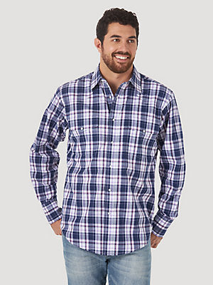 Men's Wrinkle Resist Long Sleeve Western Shirt MWR403P