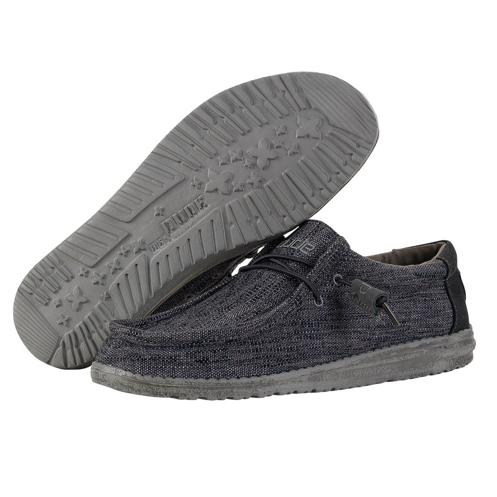 Men's Hey Dude Wally Woven Carbon 110394300