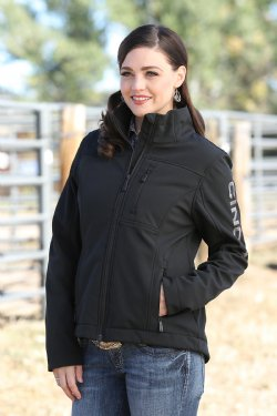 Womens Black Concealed Carry Bonded Jacket