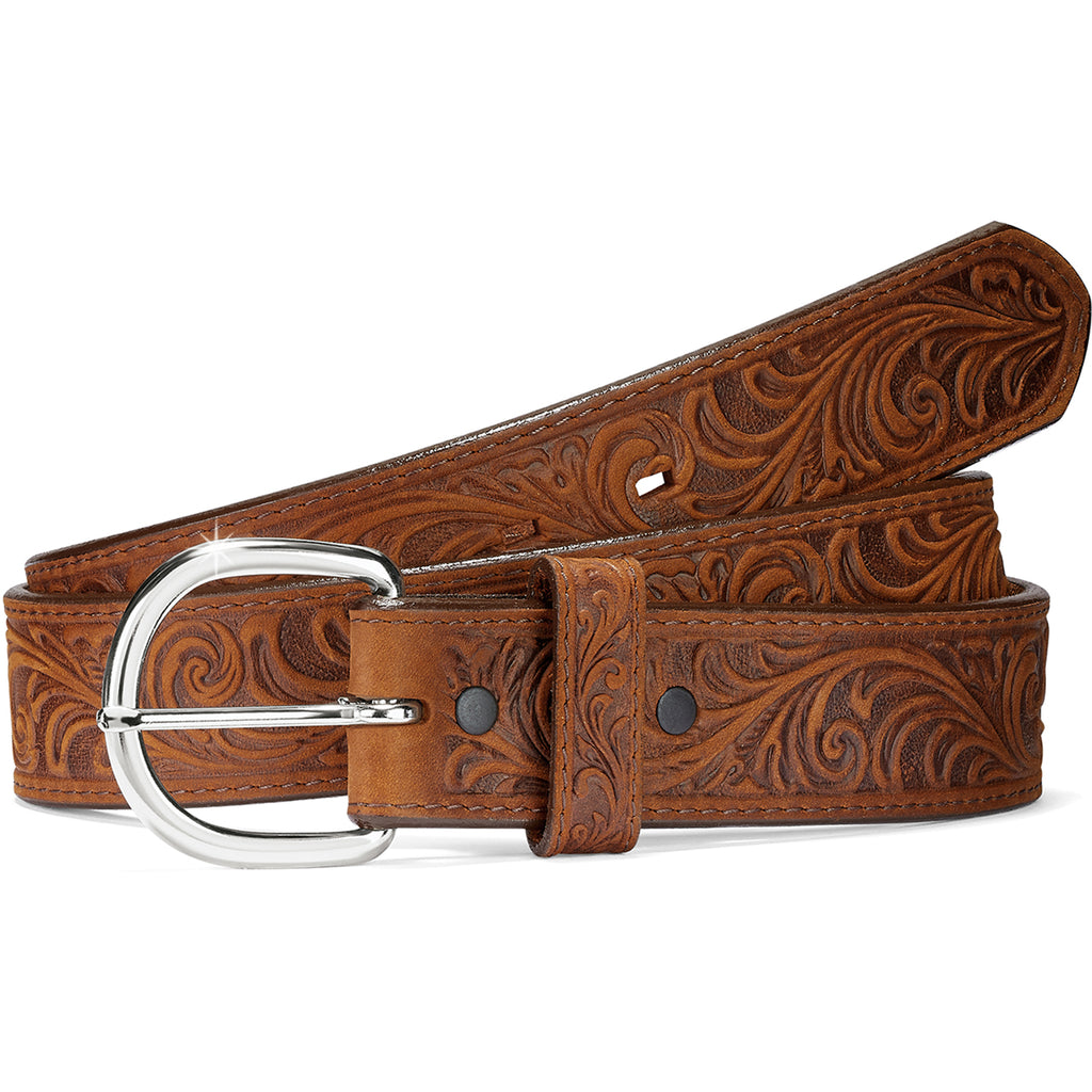 Justin Western Scroll Tooled Belt