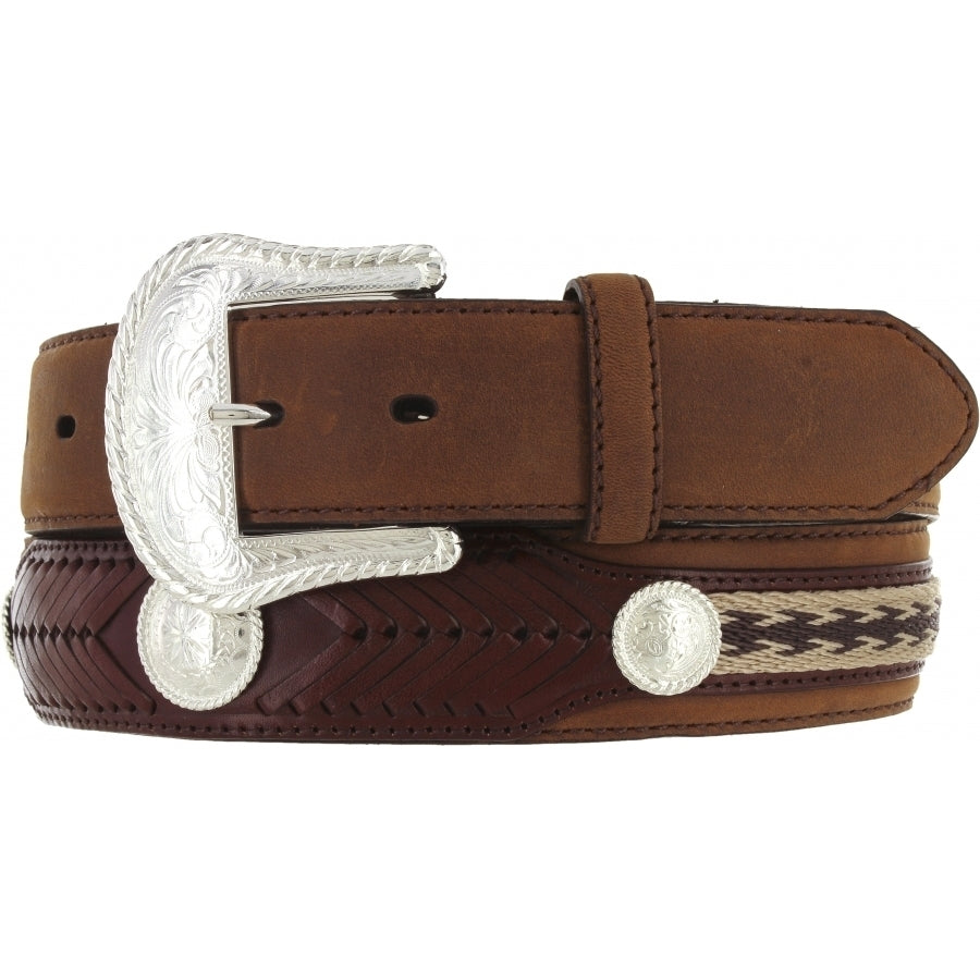 Tony Lama Duke Center Applique Belt