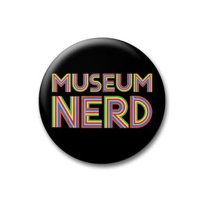 Museum Nerd Pin in Black