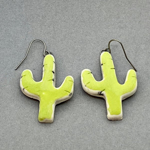 Chartreuse Cacti Earrings