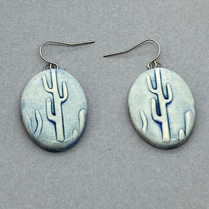 Cacti Oval Earrings