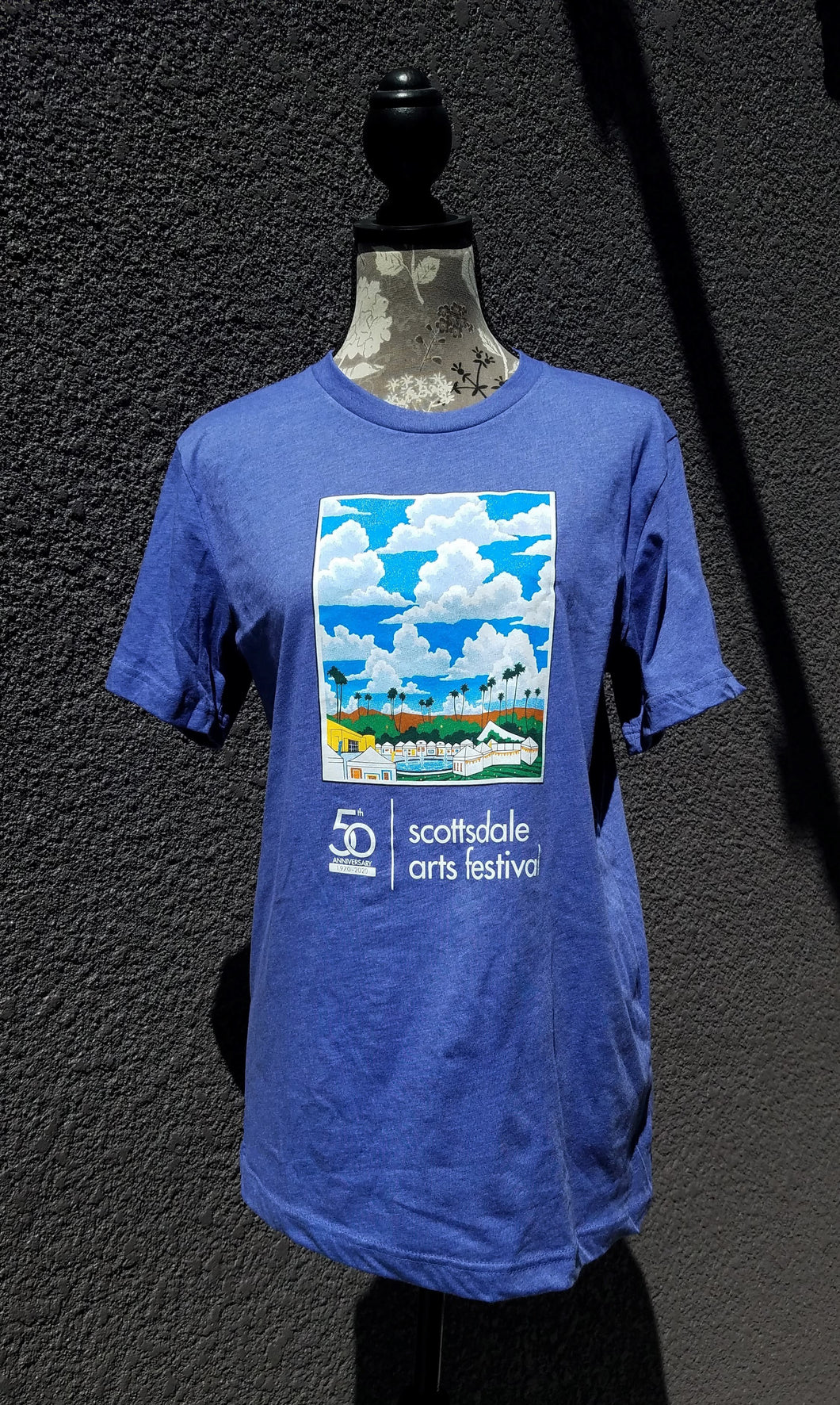 50th Anniversary Arts Festival Tee in Periwinkle or Burgundy