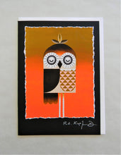 Load image into Gallery viewer, Spindle Owl Greeting Card