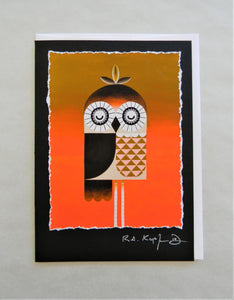 Spindle Owl Greeting Card