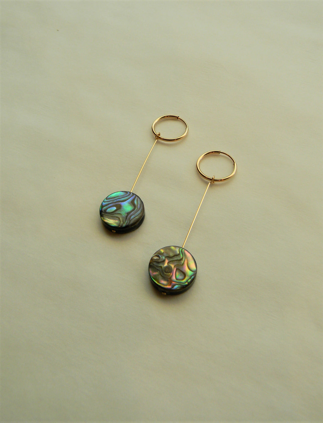 Rose Gold Abalone Earrings