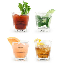 Load image into Gallery viewer, Bartending Glasses Set of 4