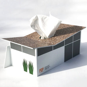 Midcentury Ranch Club Tissue Box Cover