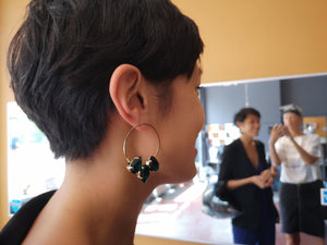 Livia earrings with 3 classic crystals