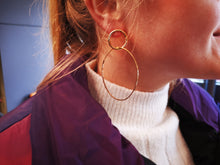Load image into Gallery viewer, Christelle metal hoops