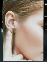 Load image into Gallery viewer, Belinda, hanging 65 mm stick earrings