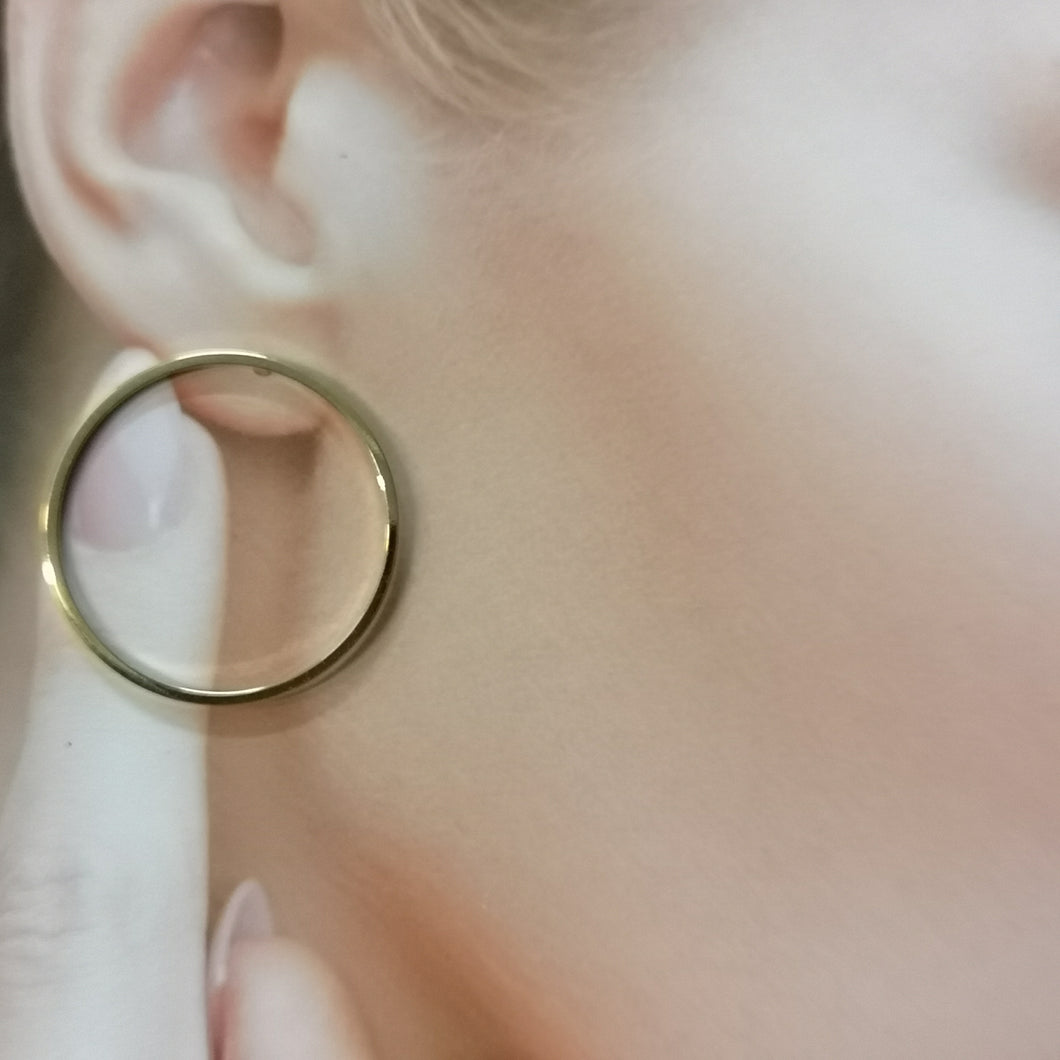 Olivia, 28 mm thin ring stud earrings