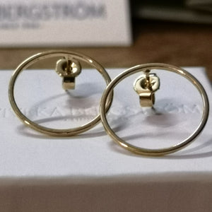 Ofelia, 18 mm thin ring stud earrings