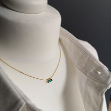 Load image into Gallery viewer, Adèle thin necklace with 3*7 mm crystal
