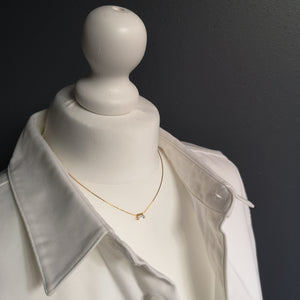 Adèle thin necklace with 3*7 mm crystal