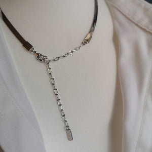 Shine, flat chain necklace