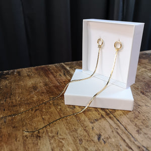 Inga long chain earrings