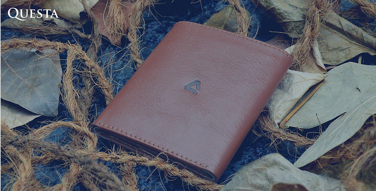 Questa Roots Leather Vertical Wallet The Nodule